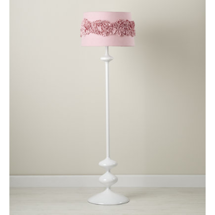 Attractive Kids Floor Lamps: Pink Ruffled Shade   Pink Ruffled Floor Shade