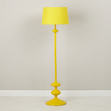 Yellow Checkmate Floor Lamp  Base