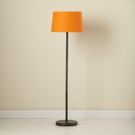 Kids Floor Lamps: Kids Floor Lamp Base With Fabric Shade   Orange Light  Years Floor Lamp Shade