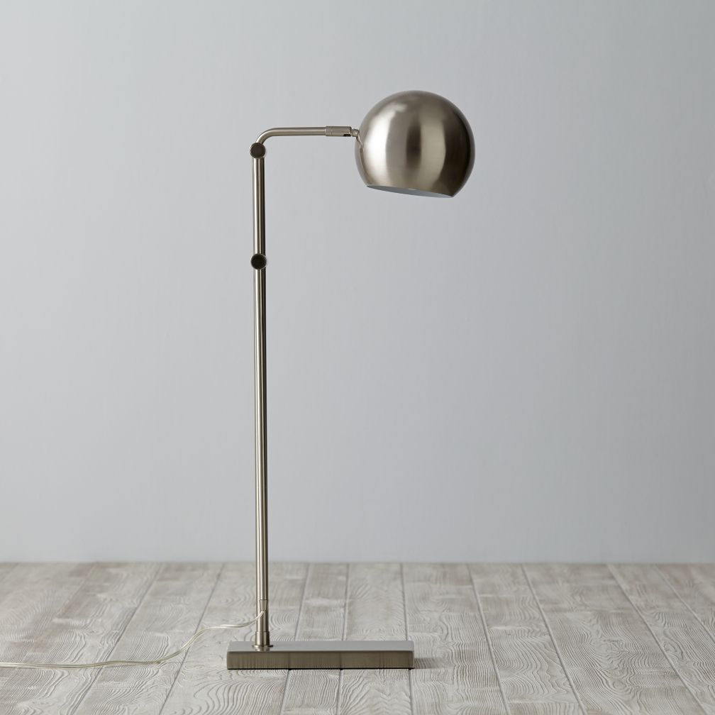 Hemisphere Floor Lamp (Silver)