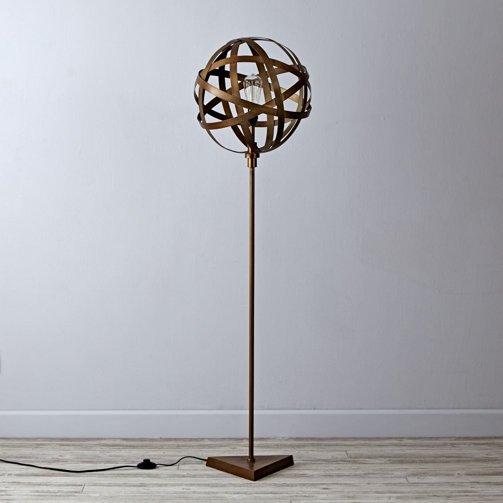 Lamp Ceiling To Floor: Orbital Floor Lamp