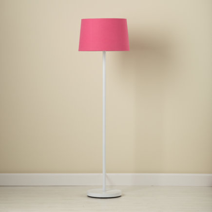 Kids Floor Lamps: Kids Floor Lamp Base with Fabric Shade - Hot Pink Light Years Floor Lamp Shade