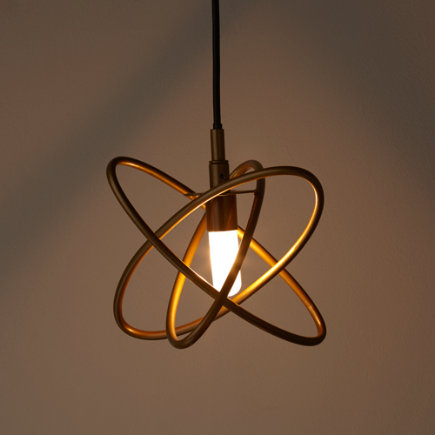 Retro Metal Hoop Pendant Lamp (Gold) - Gold Electron Ceiling Lamp