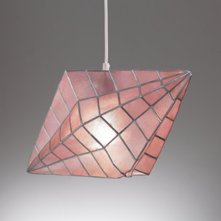 Faceted Pendant Lamp - Pink Faceted Pendant