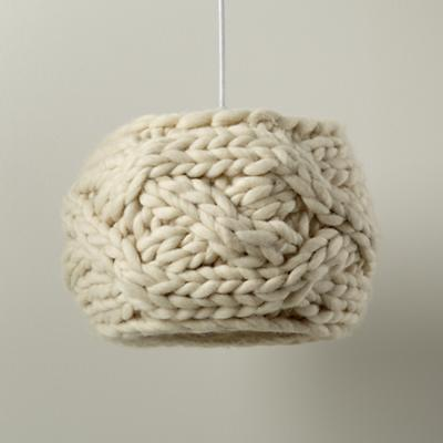 Cardigan Pendant Lampshade (Cream)