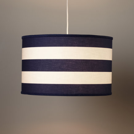 Blue White Stripe Pendant Lamp
