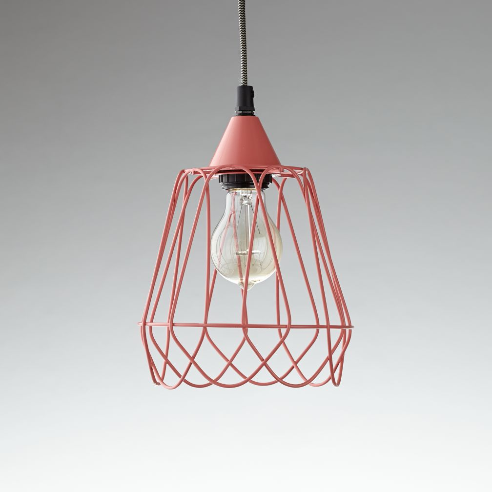 Wiry Pendant (Pink)