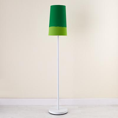 Green Lighten Up Floor Shade  (with White Base)