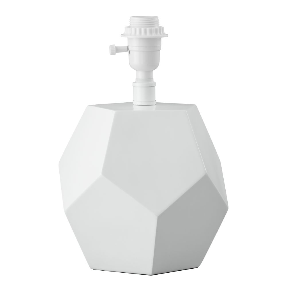 Between a Rock Table Lamp Base (White)