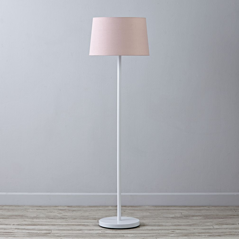 Kids floor lamps the land of nod for Light pink floor lamp shade