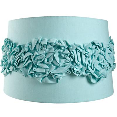 Ruffled Floor Shade (Aqua)