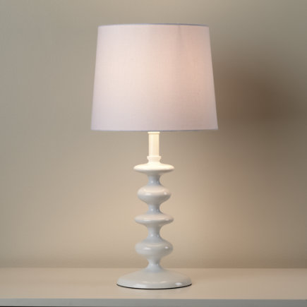 Kids Lighting: Kids White Lamp - White Checkmate Table Lamp Base