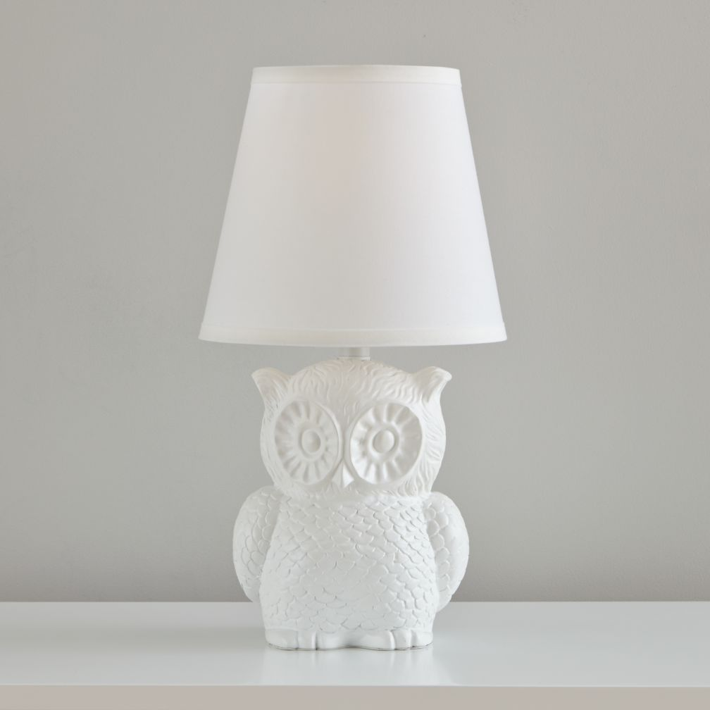 Owl Table Lamp (White)