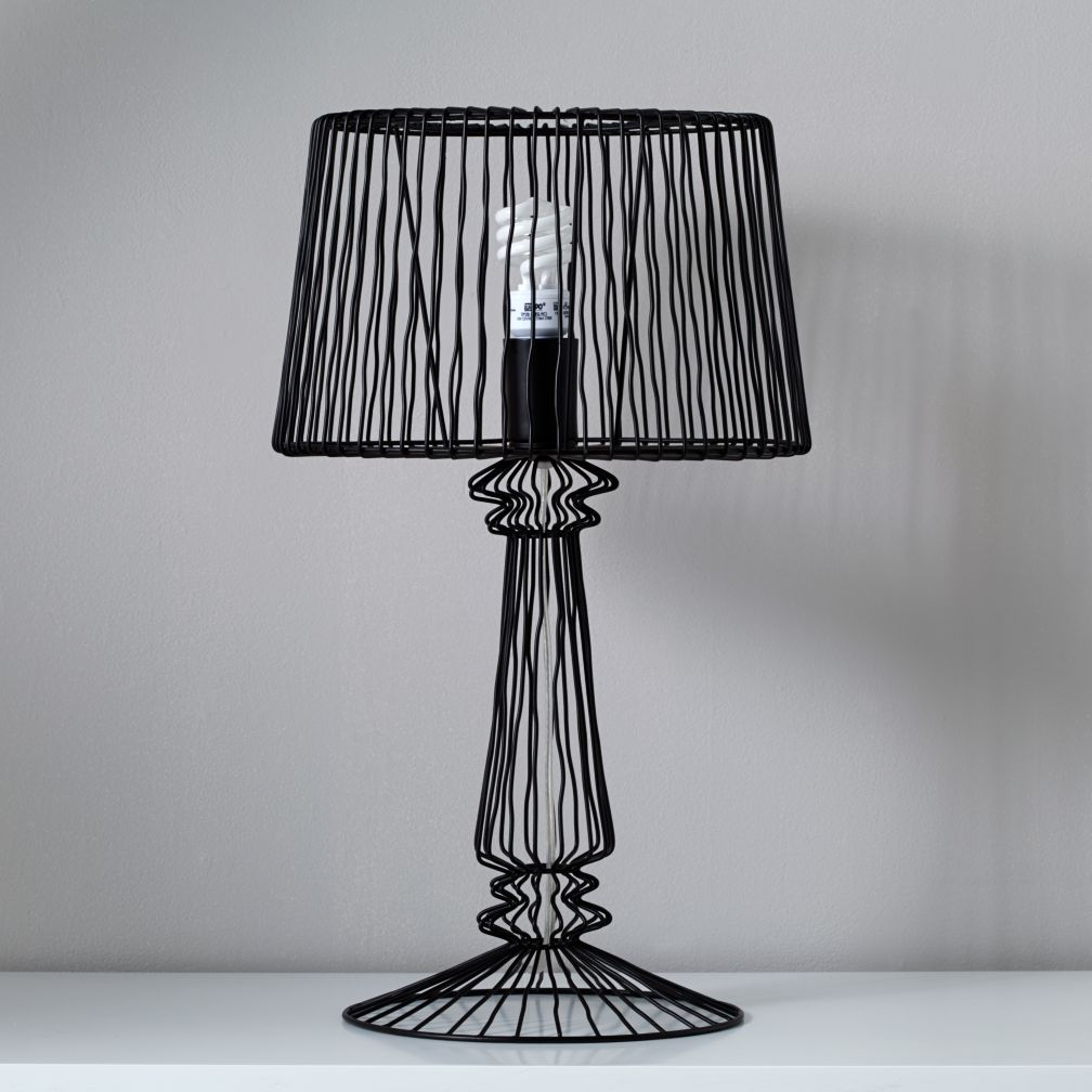 Real Light Wire Table Lamp (Black)