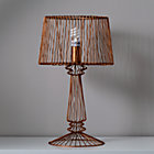 Bronze Real Light Wire Table Lamp
