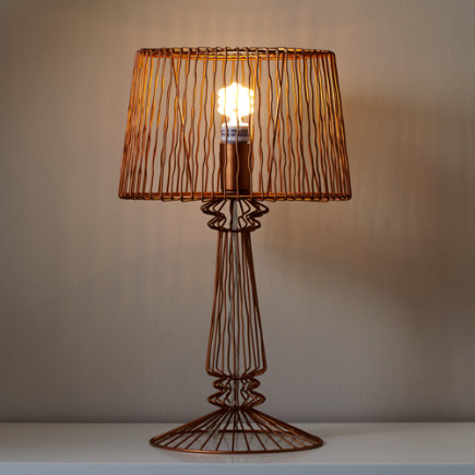 Wire Table Lamp (Bronze) - Bronze Real Light Wire Table Lamp