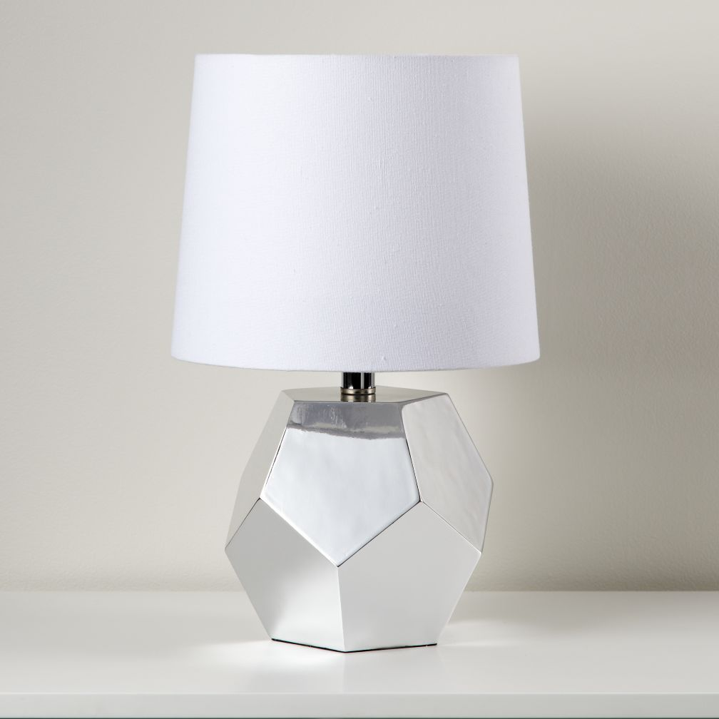 Between a Rock and a Table Lamp Base (Silver)