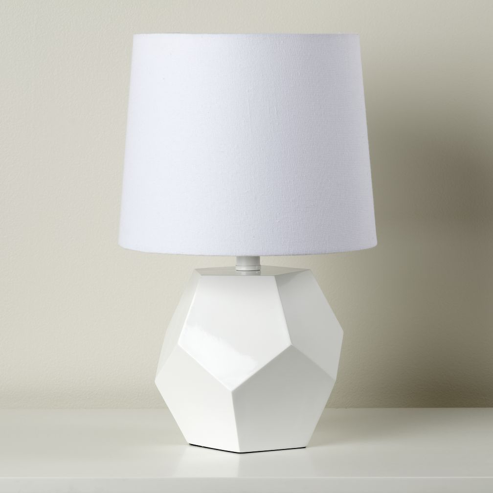 Between a Rock and a Table Lamp Base (White)