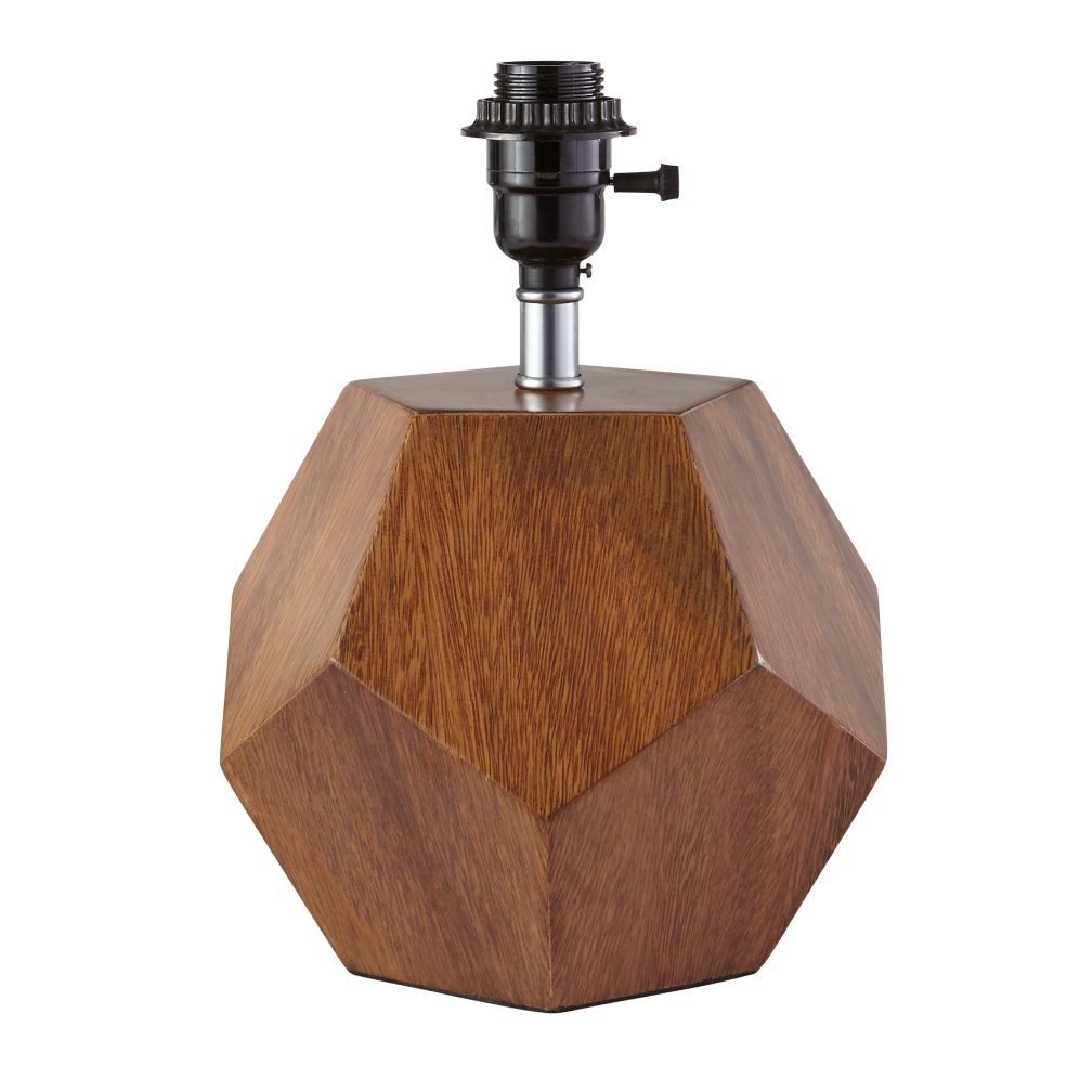 Between a rock wood table lamp the land of nod for Lamp wooden