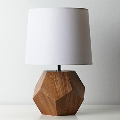 Between a Rock and a Lamp Base (Wood)