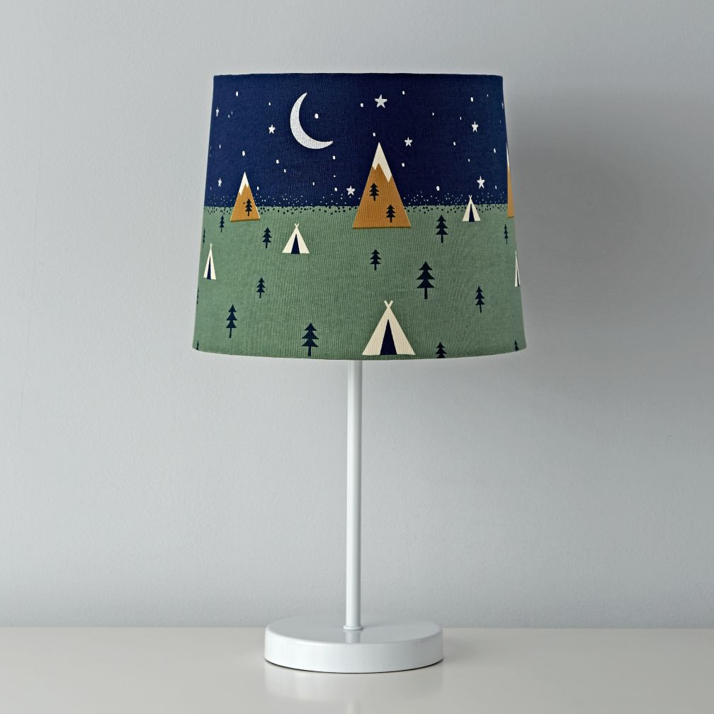 - On the Range Table Shade - camping or lodge room theme lamp shade