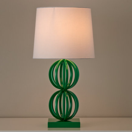 Green Two Ring Table Lamp Base