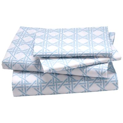 Queen Blue Lattice Sheet Set