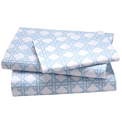 Blue Lattice Sheet Set (Twin)