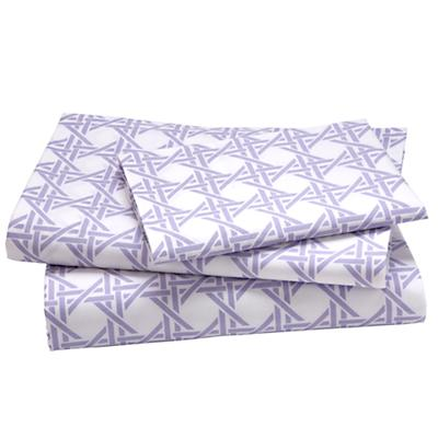 Twin Lavender Lattice Sheet Set