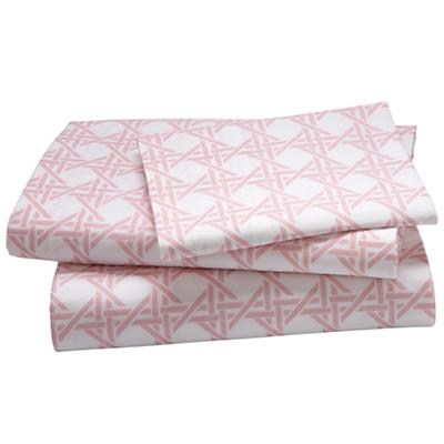 Twin Dk. Pink Lattice Sheet Set
