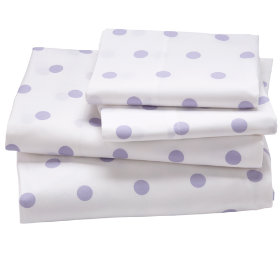 Window Pane Lavender Sheet Set (Full) in Sheet Sets | The Land of Nod