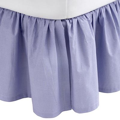 Queen Grid bed Skirt (Lavender)