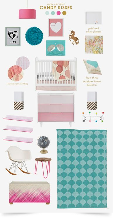 Candy Kisses Girls Nursery | The Land of Nod