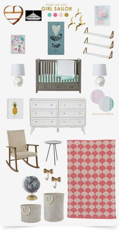 Girl Sailor Nautical  Nursery | The Land of Nod
