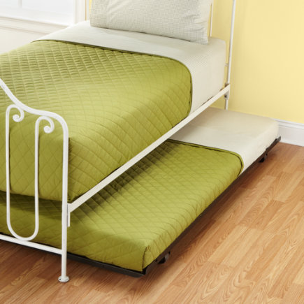 Kids Trundles: Kids Metal Storage Trundle - Metal Trundle Bed