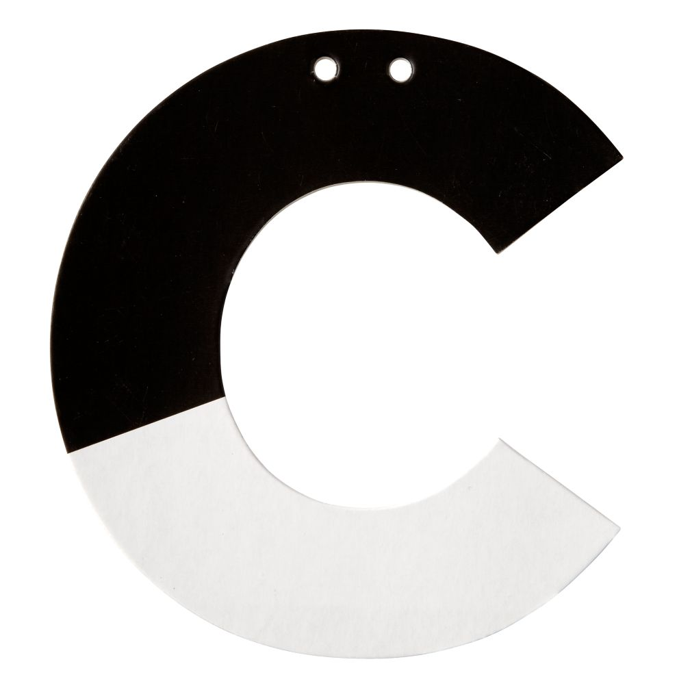 C Black and White Letter