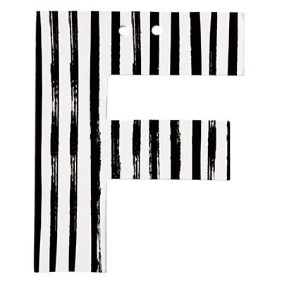 F Black and White Letter