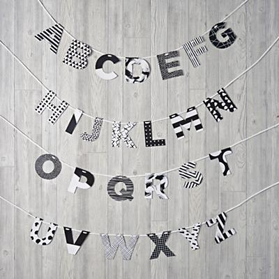 Black and White Letters