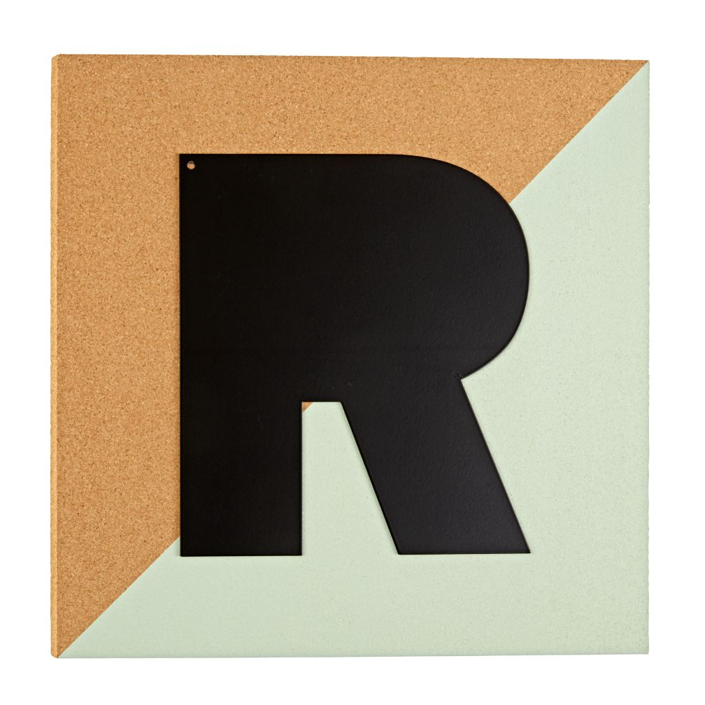 Colorblock Corkboard Letter ®