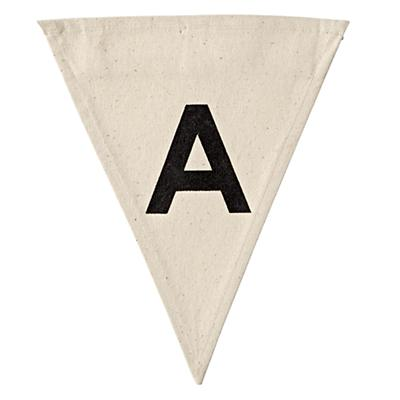 A Bold Type Flag Letter