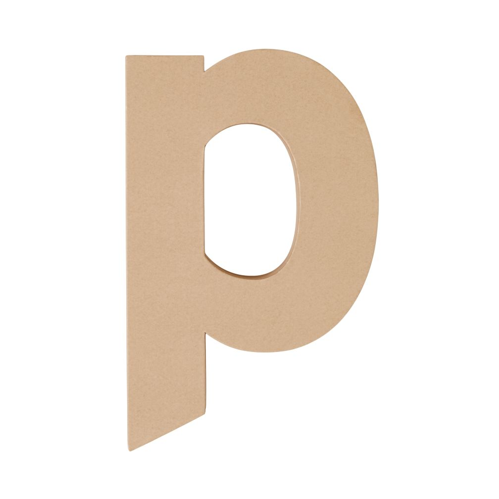 Large P Crafty Kraft Paper Letter