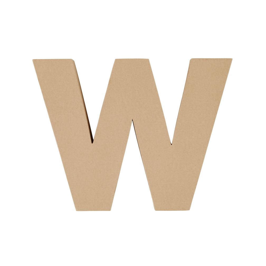 Large W Crafty Kraft Paper Letter