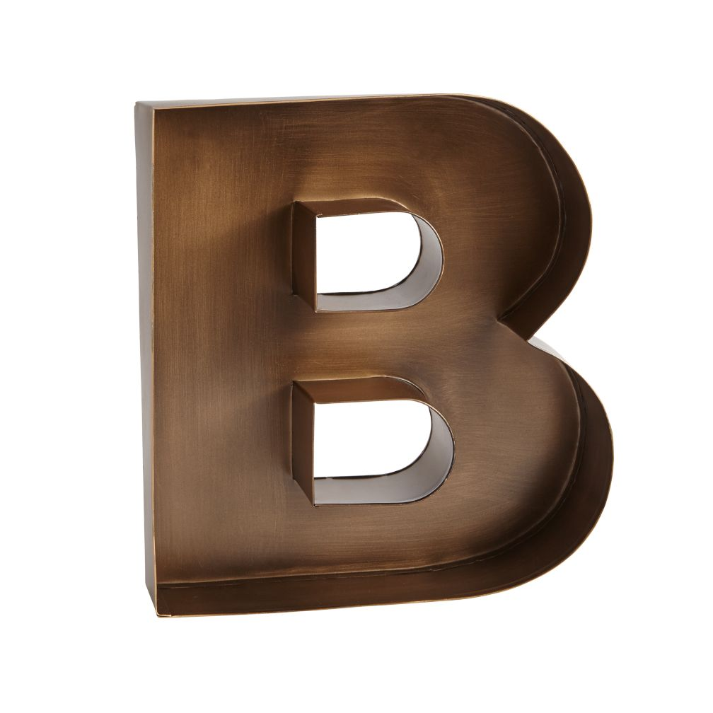 B Magnificent Metal Letter