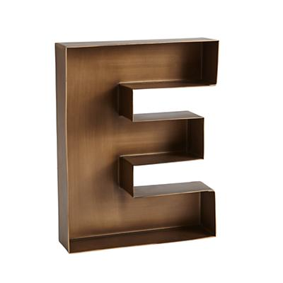 E Magnificent Metal Letter The Land Of Nod