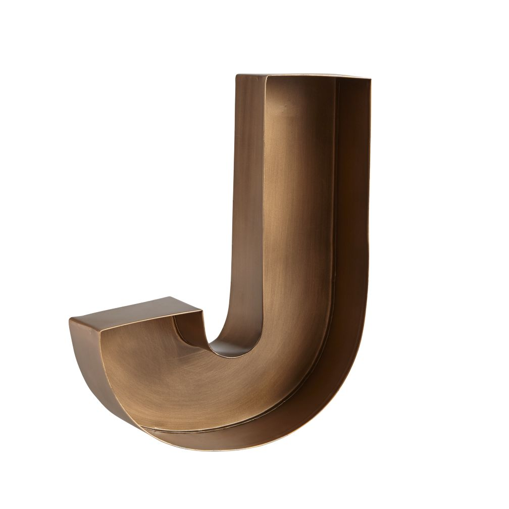 J Magnificent Metal Letter