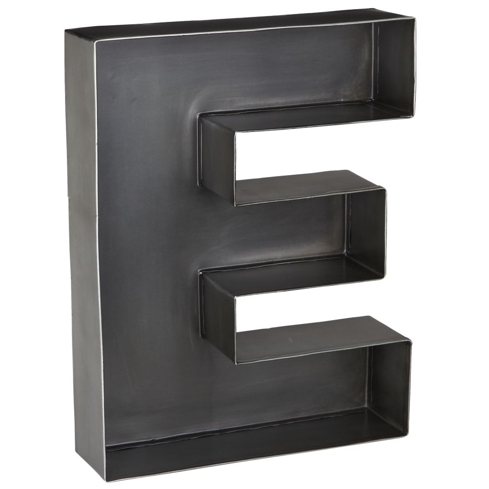 E Magnificent Metal Letter