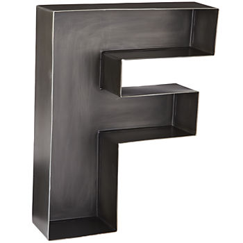 F Magnificent Metal Letter