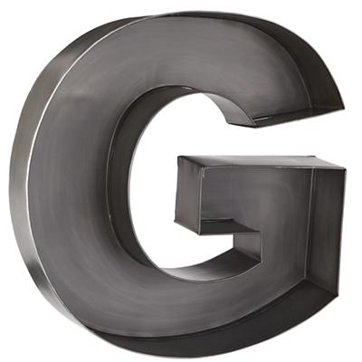 G Magnificent Metal Letter