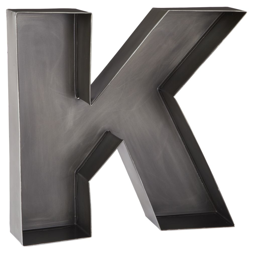 K Magnificent Metal Letter