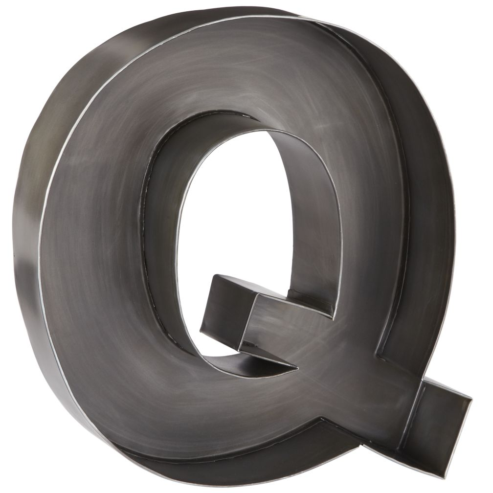 Q Magnificent Metal Letter